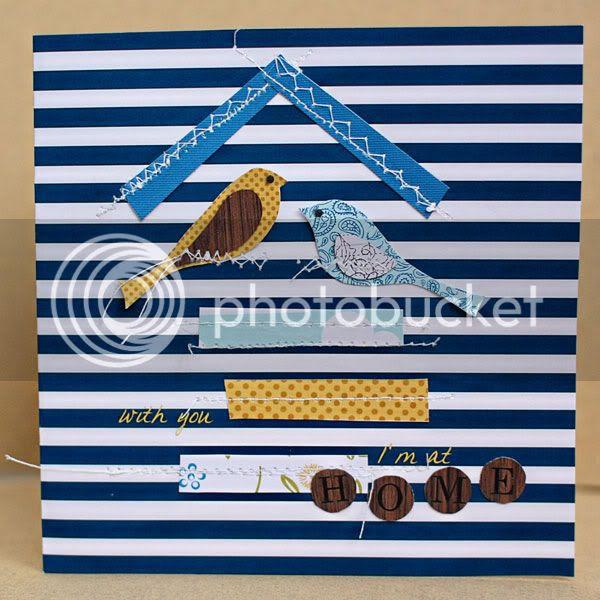 Birds Card, Blue Skies Ahead by Jenn Barrette