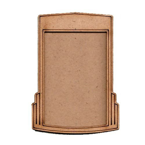 Fancy Atc Mdf Wood Blank With Art Deco Style Frame