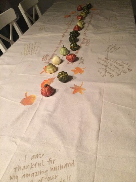 Thankful DIY tablecloth