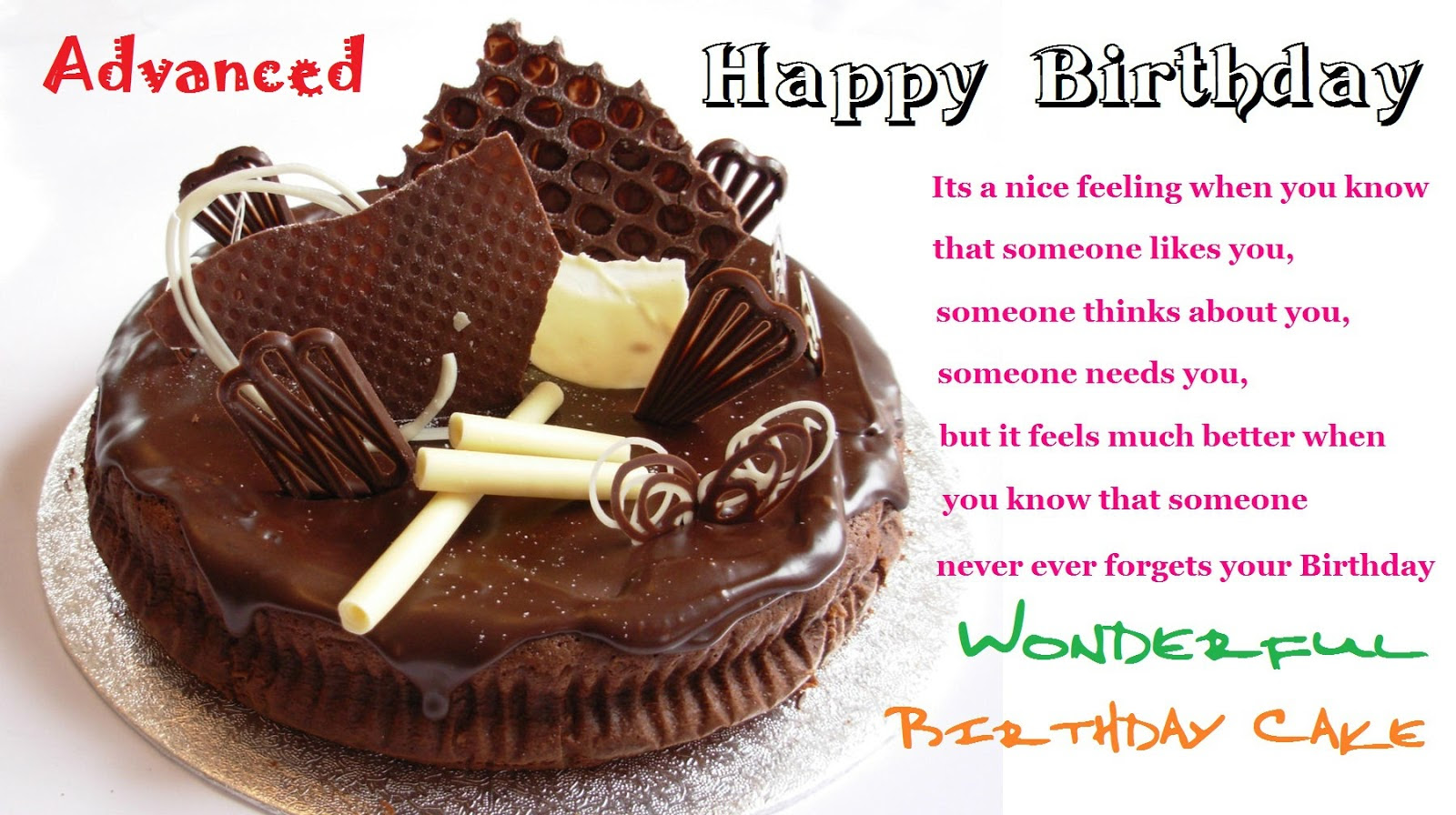 Birthday Cake And Wishes For Friends