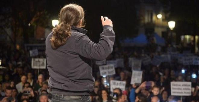 Pablo Iglesias interviene en una manifestación. Dani Gago/Podemos
