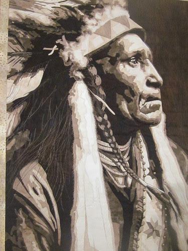 """Raven Blanket"" by Lynn Czaban, close up"