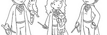 Free Printable Easy Harry Potter Coloring Pages