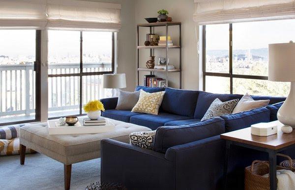 20 Impressive Blue Sofa in the Living Room   Home Design Lover