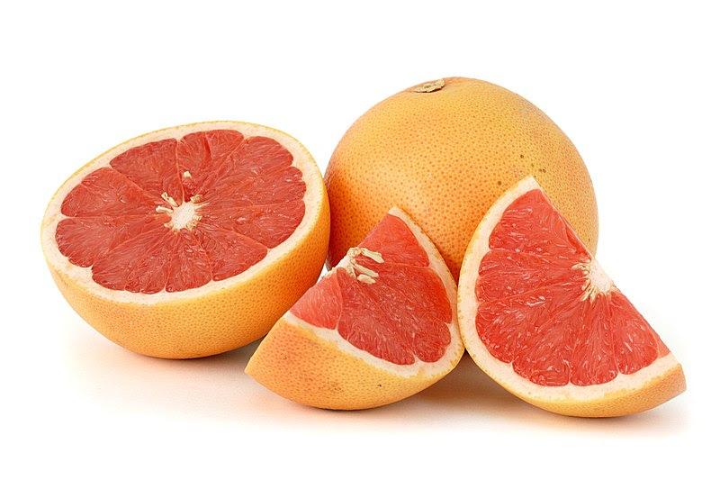 File:Citrus paradisi (Grapefruit, pink) white  bg.jpg