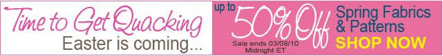 Shop Fabric.com and save 50% on Spring Fabric
