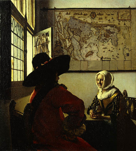Officer and Laughing Girl, Johannes Vermeer, c. 1657