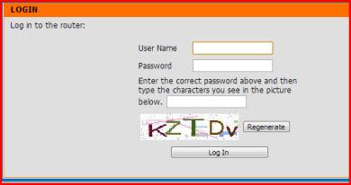 enter you router password
