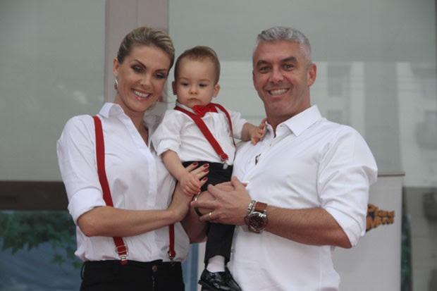 Ana Hickmann, Alexandre Corrêa e Alexandre Júnior (Foto: Manuela Scarpa e Amauri Nehn/Photo Rio News)
