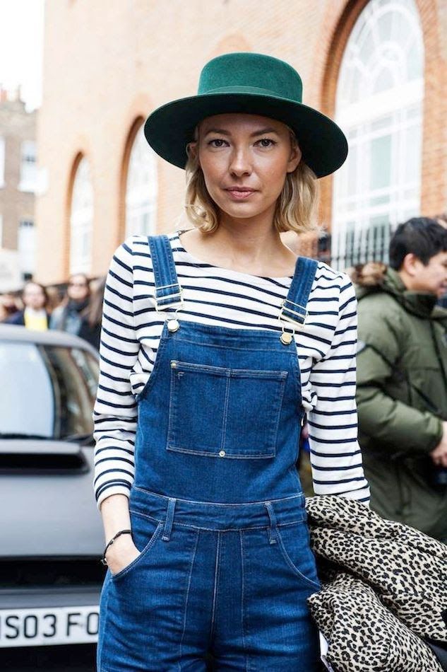 Le Fashion Blog London Street Style Green Hat Short Blonde Bob Long Sleeve Striped Shirt Denim Overalls Leopard Coat photo Le-Fashion-Blog-London-Street-Style-Green-Hat-Short-Blonde-Bob-Long-Sleeve-Striped-Shirt-Denim-Overalls-Leopard-Coat.jpg
