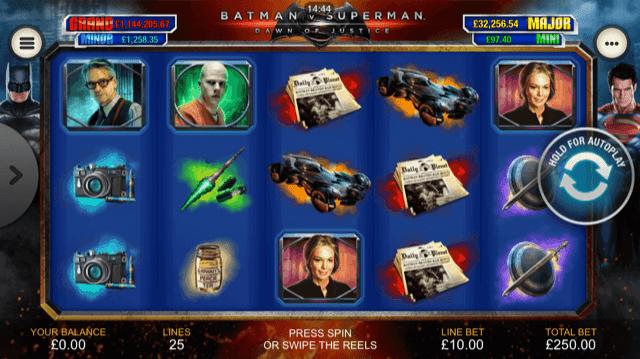 Universal superman comic slots offers four progressive jackpots live
