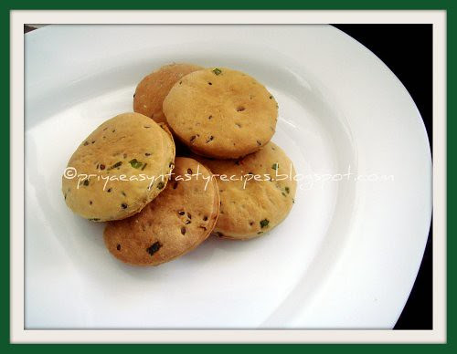 Barley & Spring Onions Biscuits