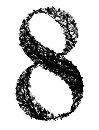 Resultado de imagen de numero ocho ramas de arboles