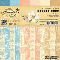Набор скрапбумаги Graphic 45 - Gilded Lily - Patterns and Solids, 15х15 см, двусторонняя, 12 листов - ScrapUA.com
