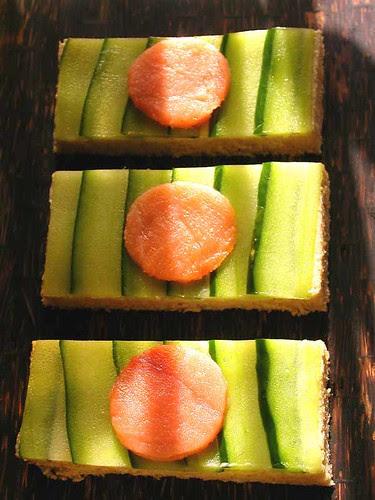 salmon cucumber tea sarnies 2