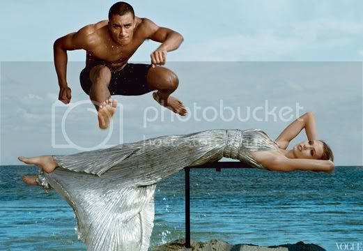 Karlie Kloss and Male Olympics Athletes for Vogue