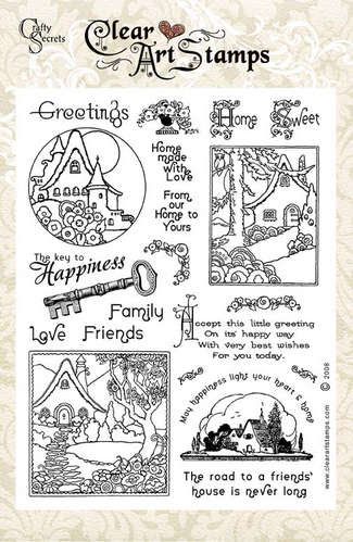 Home Sweet Home  Clear Art Stamp picture