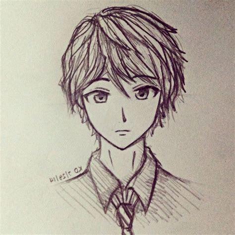 easy anime drawings  pencil boy anime boy drawings