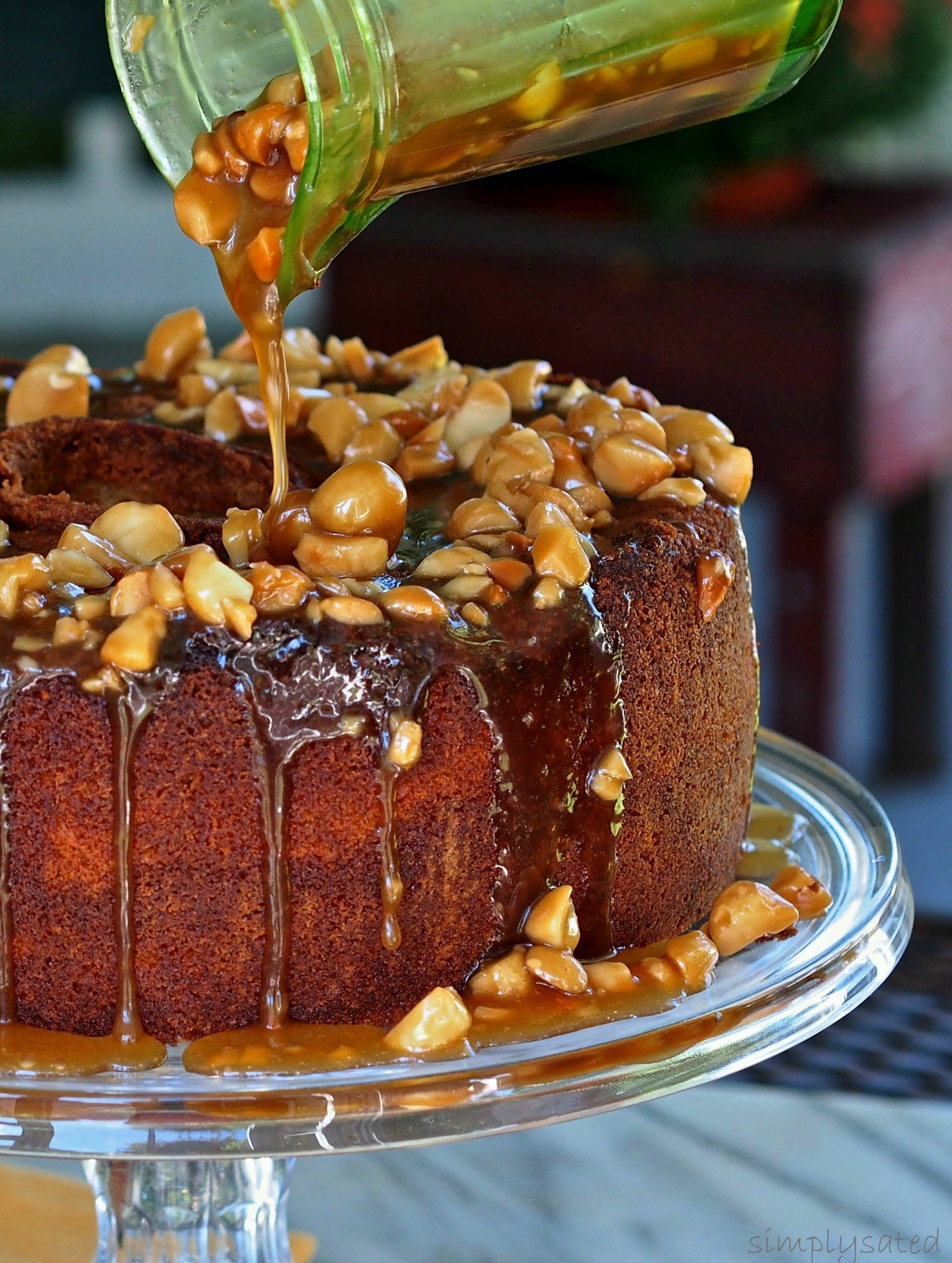 Caramel Macadamia Pound Cake | Simply Sated