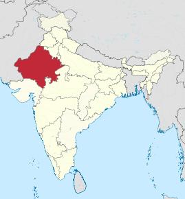 Kart over Rajasthan