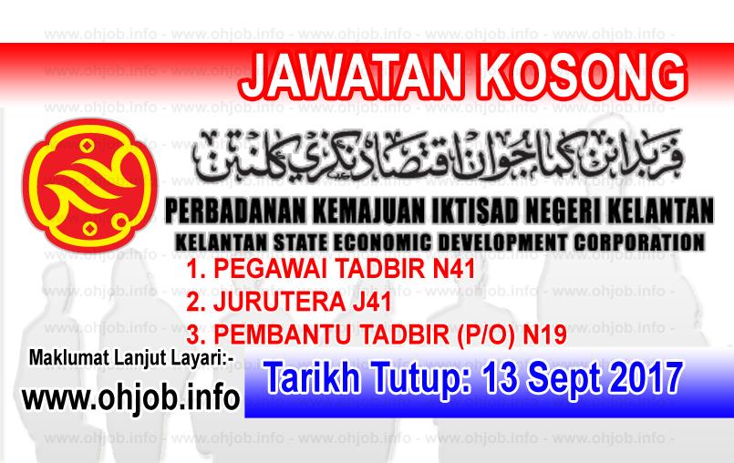 Ohjob Jawatan Kosong Kerajaan Di Malaysia Jawatan Kosong Pkink Perbadanan Kemajuan Iktisad Negeri Kelantan 13 September 2017