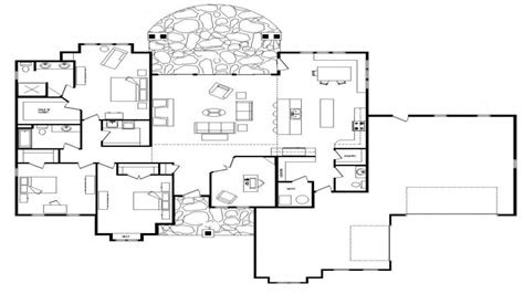open floor plans  level homes single story open floor