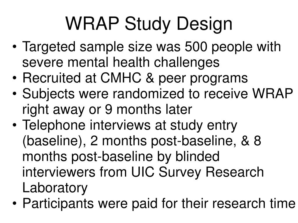 PPT - WRAP as an Evidence-Based Practice: The Ohio ...