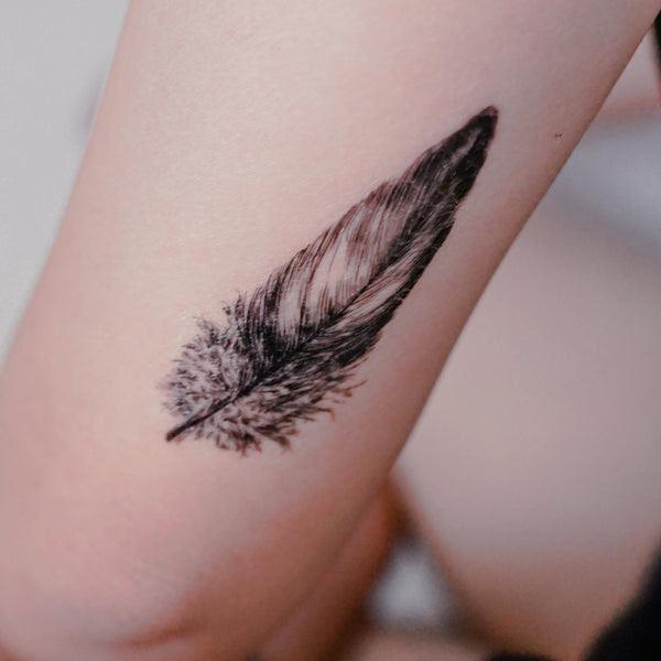 Lazy Duo Roman Spiritual Feather Wing Temporary Tattoo