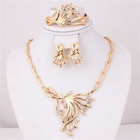 2018 Dubai Gold Jewelry Set / Wedding Jewellery Designs