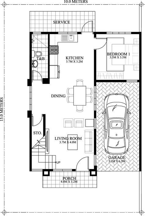 mateo  bedroom  story house plan pinoy house plans