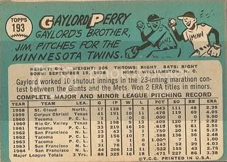 #193 Gaylord Perry (back)