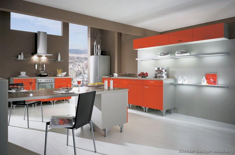 Pictures of Modern Orange Kitchens - Design Gallery