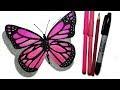 Dibujos De Mariposas Bonitas A Color