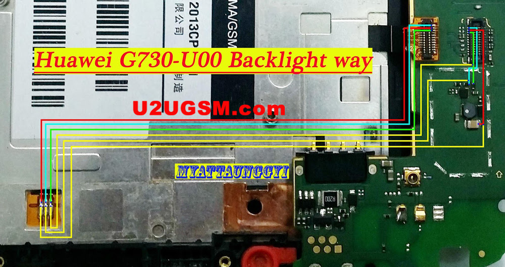 Huawei G730 Backlight Ways Lcd Jumper Solution