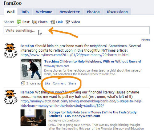 Come Engage on the FamZoo Facebook Page
