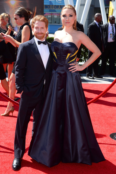Seth Green Actor Seth Green and wife Clare Grant arrive at the 2013 Creative Arts Emmy Awards held at the Nokia Theatre L.A. Live on September 15, 2013 in Los Angeles, California.