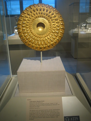 Gold phiale (libation bowl), Greek, 4th-3rd century B.C. _8256