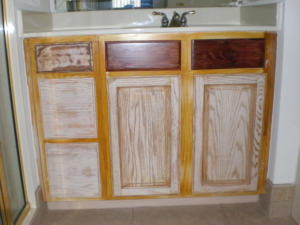 Refinishing Pickled Oak Cabinets