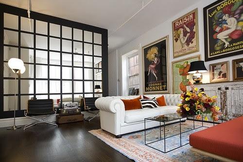Soho Loft eclectic living room