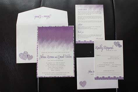 J E's Banff Ombre Purple Wedding ? Wedding Invitations