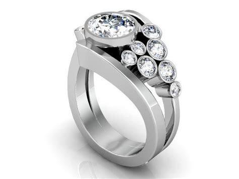 Custom Round Diamond Ring Round Brilliant Cut Diamond