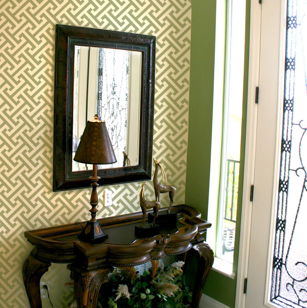 Geometric Pattern Wall Room Decor Made by OMG Stencils Home Improvements Color Paintings 0007