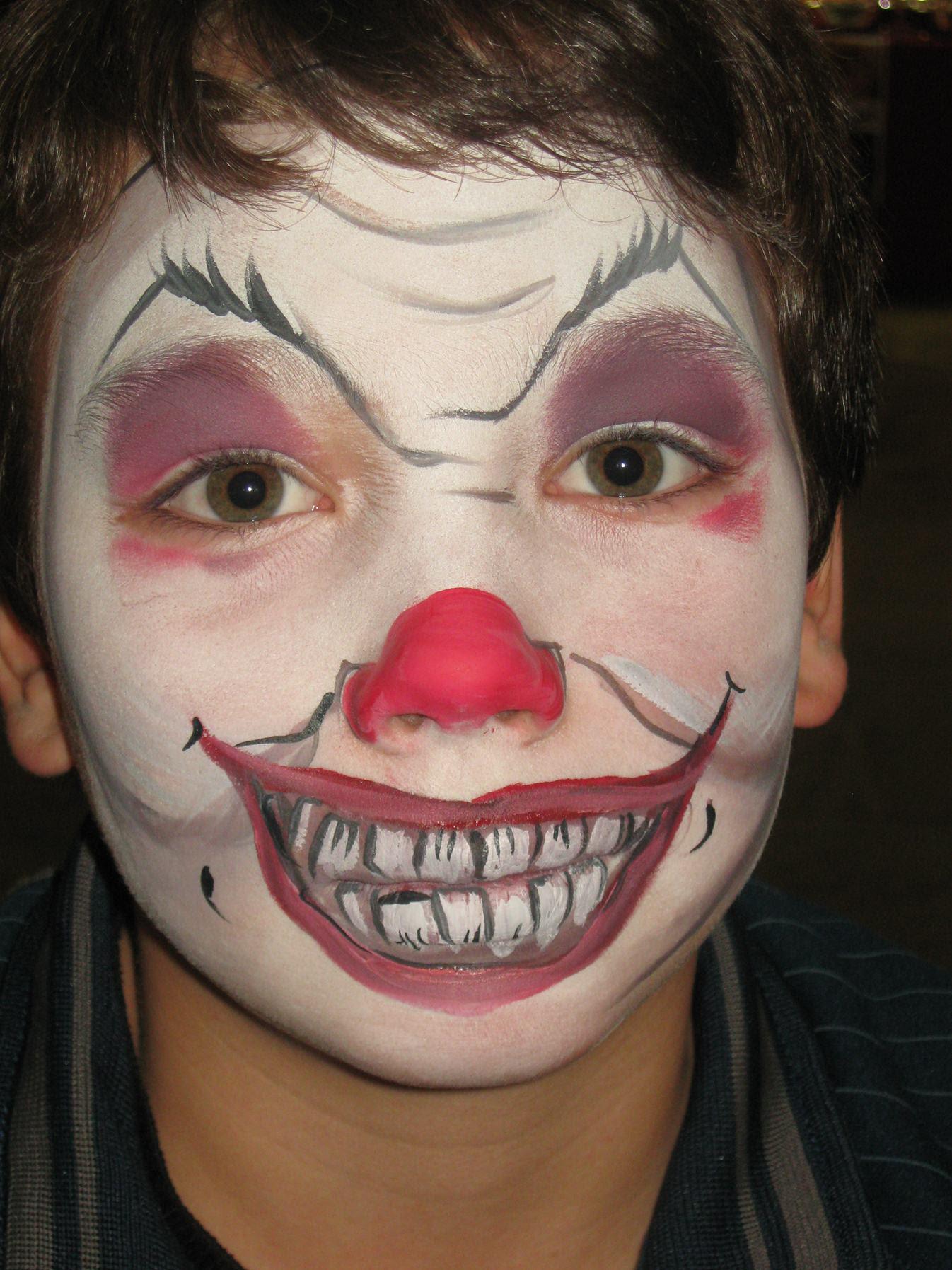 5 Tatoos Useful Evil Clown Face Tattoo Designs