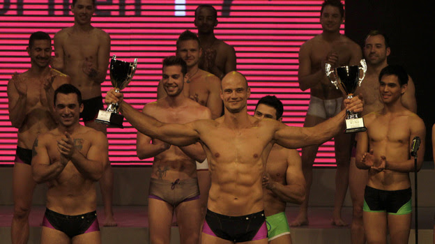 Andreas Derleth of New Zealand was named Mr. Gay World 2012 on Sunday in Johannesburg. It marked the first time the competition was held in Africa, where being gay is a crime in many countries on the continent.