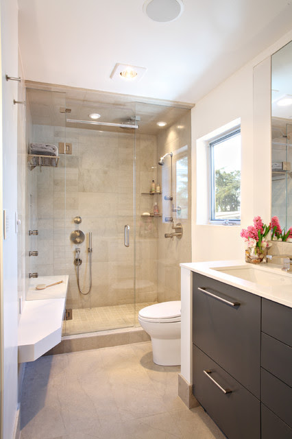 Contemporary Condo Renovation - Contemporary - Bathroom ...
