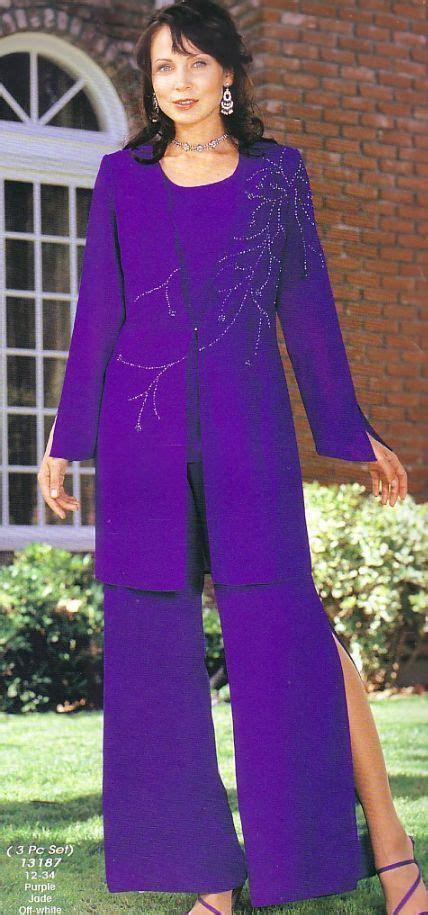 dressy pant suits  evening purple mother   bride