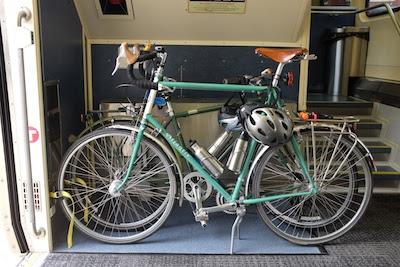 Our bicycles in the Northstar Train bike parking