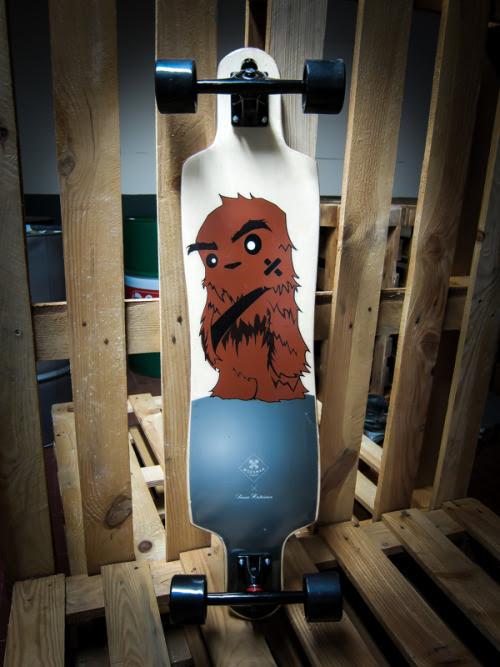 Chibi Chewbacca Longboard Designed byGregorio Marangon