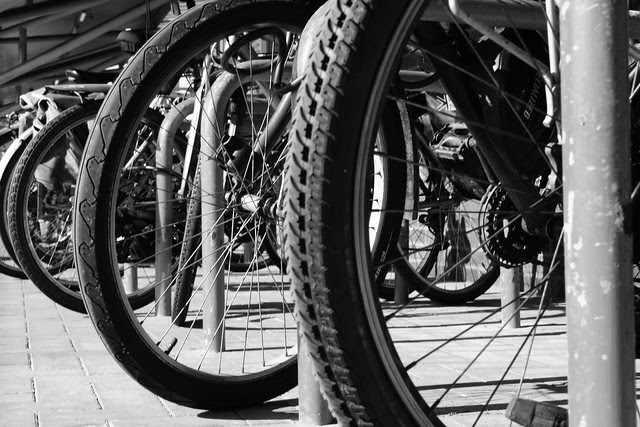 Bikes at the railway station