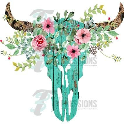 Download Wooden Cow Skull - 3T Xpressions